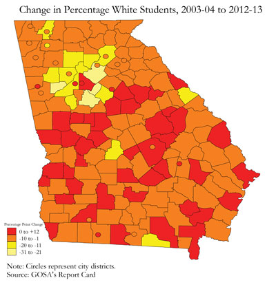 Mapping Trends In Georgia S Student Population Over The Past Ten