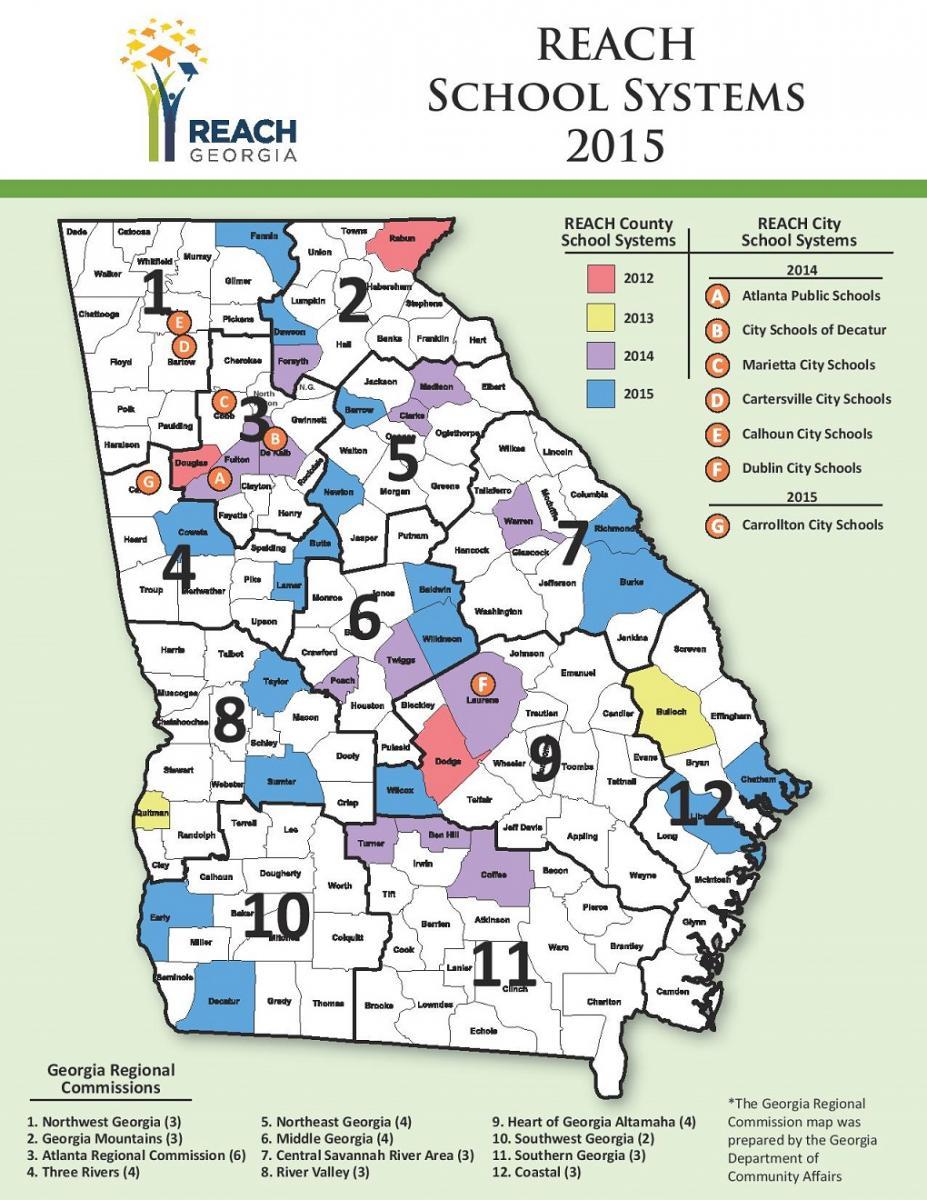 REACHing Out To Georgia Students Georgias PublicPrivate Needs - Georgia map 2015